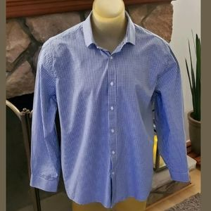 Tommy Hilfiger Blue White checkered button down